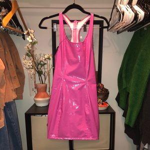 Women's Latex Pink Dress